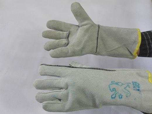 دستکش جوشکاری هوبارت سفید بلند (پژو)